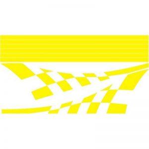 3034__Y Autocollant pour la voiture Flag Racing (L - 110 (47.2 in) sm. / H - 58 sm.(22.83 in) Yellow) de la marque image 0 produit