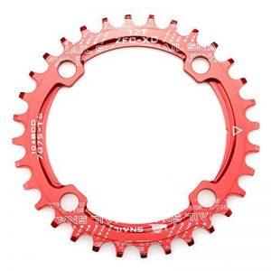 32T 34T 36T Plateau de pédalier 104BCD Fomtor Bike étroit Large plateaux pour 91011vitesses pour vélo de route VTT BMX VTT de vélo (rond, Rouge) de la marque image 0 produit