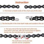 8 Paires Attache Rapide Chaine Velo pour 6, 7, 8, 9, 10 Chaîne de Vitesse, Argent, Réutilisable de la marque image 3 produit