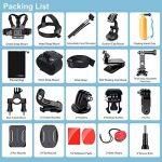 Accessoires pour Gopro Hero 6 5 4, Action caméras Accessoires pour Go Pro Hero Session 5 3 2 1 Black AKASO EK7000 Apeman et La Plupart Des Caméras De Sport par LUSCREAL. de la marque image 1 produit