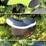 Antichoc Large Cushion Selle VTT Gel pour Homme et Femme, Selle de Vélo avec Mousse 3D, Bien Rembourré et Confortable de la marque image 6 produit