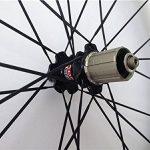 Aurora Racing 38C-23mm Pneu vélo de route en carbone Roues Novatec hub pilier rayons 20/24trous de la marque image 3 produit