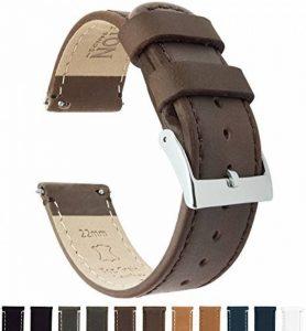 Barton Watch Bands Bracelet De Montre En Cuir Libération Rapide - Choisissez La Couleur Et La Taille de la marque image 0 produit