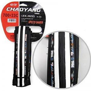 Couvercle Noir/Blanc-Roue Increvable Pneu 700 x 23C Fixie 2882bl Vélo de la marque image 0 produit