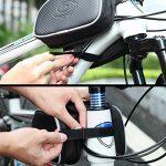 DCCN 5,5 Pouces Sacoche de cadre vélo pour Smartphone Guidon VTT, Sacoche Cyclisme Résistante à L'eau de la marque image 4 produit
