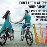 Demonte Pneus Vélo - Levier en Plastique Durci de Qualité Supérieure pour Réparer le Velo - Nécessaire d'outillage pour Cycliste de Route - Ensemble 3 - 5 Couleurs (Noir / Argent / Or / Rose / Rouge) de la marque image 2 produit