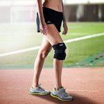 EMPO Attelle de Genou de Support pour Course, Jogging, Exercice, Récupération des lésions - Complètement Ajustable, Unisexe - unique design Antidérapant et fort Velcro bande - Black de la marque image 6 produit