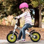 Enkeeo - Draisienne Vélo Enfant, Vélo Sans Pedale Enfant avec la cloche et le frein à main pour les enfants de 2-6 ans, cadre en acier au carbone, guidon réglable et Seat, capacité de 50kg de la marque image 3 produit