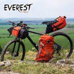 EVEREST FITNESS selle de vélo confort trekking pour hommes en cuir synthétique mou | avec 2 ans de garantie satisfaction | siège de vélo, selle de vélo, selle MTB, selle de VTT, rembourrage élastomère de la marque image 4 produit
