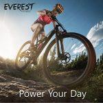 EVEREST FITNESS selle de vélo confort trekking pour hommes en cuir synthétique mou | avec 2 ans de garantie satisfaction | siège de vélo, selle de vélo, selle MTB, selle de VTT, rembourrage élastomère de la marque image 6 produit
