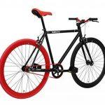 FabricBike- Vélo Fixie Noir, Fixed Gear, Single Speed, Cadre Hi-Ten Acier, 10Kg de la marque image 1 produit