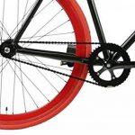 FabricBike- Vélo Fixie Noir, Fixed Gear, Single Speed, Cadre Hi-Ten Acier, 10Kg de la marque image 3 produit