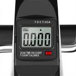 Finether Mini Vélo Exerciseur à Pédales Trainer Appareil d'Exercice Volant Fer 2kg pour Entrainement Cardio et Fitness Entraîner les Bras et Jambes, Ecran LCD Bouton de Résistance Réglable de la marque image 5 produit