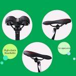 Gel Selle de vélo–Coussin confortable sièges Vélo respirant VTT Vélo Housse de siège Pad pour vélo de montagne Vélo de route avec bandes réfléchissantes–pour Homme et pour femme de la marque image 6 produit