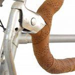 """Gusti Cuir studio """"Fausto C."""" guidolines en cuir y compris les lièges pour le guidon ruban pour le guidon protège guidon en cuir pour vélo bicyclette de course ruban en cuir véritbale naturel marron clair marron 2A80-20-5 de la marque image 3 produit"""