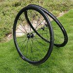 Jante de roue de pneu de vélo de route en carbone 3K mat 38mm basalte Frein côté Largeur 20,5mm Toray carbone Roues pour Shimano 8/9/10/11S de la marque image 1 produit