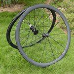 Jante de roue de pneu de vélo de route en carbone 3K mat 38mm basalte Frein côté Largeur 20,5mm Toray carbone Roues pour Shimano 8/9/10/11S de la marque image 5 produit