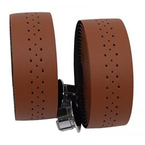 kingou Ruban pour guidon barre de luxe en cuir PU bande/pignon fixe pour vélo de route pour bar avec 2prise réfléchissant de la marque image 0 produit