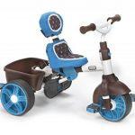 Little Tikes - 634352E4 - Tricycle - 4-en-1 Sports Edition Trike - Bleu/blanc de la marque image 3 produit