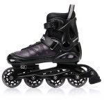 METEOR® Area Black: Les enfants Rollers ABEC 7 carbone, kinderin Liner Rollers avec taille réglable de la chaussure: S M L – S (30–33)-M (34–37) L (38–41) de la marque image 3 produit