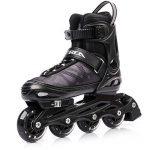 METEOR® Area Black: Les enfants Rollers ABEC 7 carbone, kinderin Liner Rollers avec taille réglable de la chaussure: S M L – S (30–33)-M (34–37) L (38–41) de la marque image 2 produit