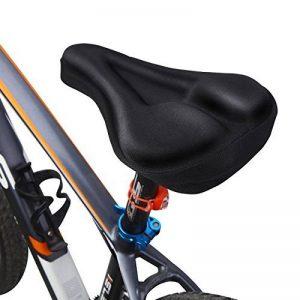 MPTECK @ Noir 3D Gel-rembourrée Vélo Bicyclette Selle Housse Confort Fourreau Gel Souple Coussin Gym Plaies pour siège selle de vélo de la marque image 0 produit