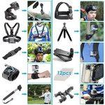 Neewer 50-En-1 Kit d'Accessoires d'Appareil Photo d'Action pour GoPro Hero 4/5 Session, Hero 1/2/3/3 + / 4/5, SJ4000 / 5000, Nikon et Sony Sports DV dans Natation Aviron Escalade Vélo Camping et Plus de la marque image 1 produit