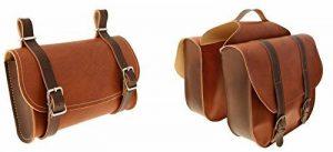 Onogal 32503251 Lot de sacoches en cuir marron vintage pour vélo + sac sous selle de la marque image 0 produit