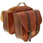 Onogal 32503251 Lot de sacoches en cuir marron vintage pour vélo + sac sous selle de la marque image 1 produit