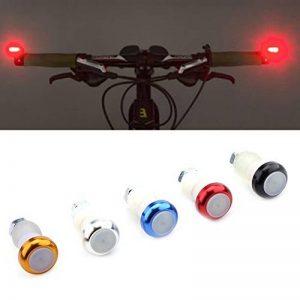Paire Lampes Indicateurs Vélo Feux Clignotants de Direction Poignée Guidon Embouts en Alliage Alumiunm de la marque image 0 produit