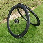 Pneu de vélo de route en carbone UD brillant complet jante Roue 60mm basalte Frein côté Largeur 25mm Toray carbone Roues pour Shimano 8/9/10/11S de la marque image 1 produit
