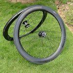 Pneu de vélo de route en carbone UD brillant complet jante Roue 60mm basalte Frein côté Largeur 25mm Toray carbone Roues pour Shimano 8/9/10/11S de la marque image 2 produit