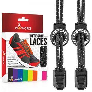 Proworks Lacets Sans Laçage ? Elastique Lacets Pour Adultes e Enfants Baskets de la marque image 0 produit
