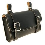 Sacoches en cuir en cuir noir vintage de vélo + sac sous sillin Italie 32523330 de la marque image 2 produit