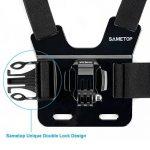 Sametop Harnais Poitrine Sangle Torse Réglable Chesty Mount pour GoPro Hero 6, 5, 4, Session, 3+, 3, 2, 1 Caméras Sport de la marque image 2 produit