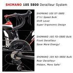 SAVADECK HERD 6.0 700C Vélos de Route T800 Fibre de Carbone Cadre 22 Vitesses SHIMANO 105 5800 HUTCHINSON 25C Pneu et Fizik selle ultraléger 18.3 lbs de la marque image 3 produit