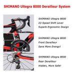SAVADECK Phantom 2.0 700C Vélo de Route Fibre de Carbone SHIMANO 6800 22-Vitesses Système HUTCHINSON 700C*25C Pneus Fi'zi: k Coussin de la marque image 3 produit