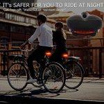 Selle de vélo Coussin d'assise Fucnen extérieur Large Big Bum pour homme pour vélo Coussin siège de selle Confort avec Tail Light Nice Cadeau pour motard Sécurité de la marque image 6 produit