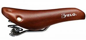 selle singlespeed avec ressort vélo VL6067 peau brune + rivets de la marque image 0 produit