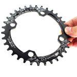 seul Plateau de pédalier 34dents 104BCD Fomtor Bike étroit Large plateaux pour 91011vitesses, parfait pour la plupart de vélo pour vélo de route VTT BMX VTT fixie Track Pignon Fixe pour vélo (rond, Noir) de la marque image 1 produit