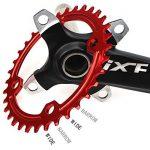 seul Plateau de pédalier 38T Fomtor Bike étroit Large plateaux pour 91011vitesses, parfait pour la plupart de vélo pour vélo de route VTT BMX VTT fixie Track Pignon Fixe pour vélo (104BCD, rond, Rouge) de la marque image 1 produit