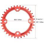 seul Plateau de pédalier 38T Fomtor Bike étroit Large plateaux pour 91011vitesses, parfait pour la plupart de vélo pour vélo de route VTT BMX VTT fixie Track Pignon Fixe pour vélo (104BCD, rond, Rouge) de la marque image 5 produit