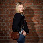 SID & VAIN® sac porté à l'épaule TRISH femme - petit Sac bandoulière - sac pour dames sac femme châtain clair sac cuir véritable de la marque image 6 produit
