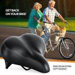 Siège de vélo le plus confortable pour Personnes âgées - Selle de Vélo Très Grande et Rembourrée pour Confort Hommes et Femmes - Selle Universel de Vélo de la marque image 5 produit