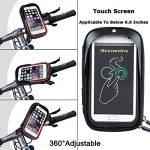 """support de fixation de téléphone étanche pour guidon de vélo avec housse transparente, rotatif à 360degrés, pour smartphone, téléphone portable, GPS 6"""" (15,2cm), noir de la marque image 2 produit"""