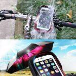 """support de fixation de téléphone étanche pour guidon de vélo avec housse transparente, rotatif à 360degrés, pour smartphone, téléphone portable, GPS 6"""" (15,2cm), noir de la marque image 1 produit"""