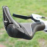 Sxtspo Poignées pour vélo, VTT de montagne Vélo de route antidérapant verrouillage de RAM Corne Bar End Poignées de guidon ergonomique, 1paire de la marque image 6 produit