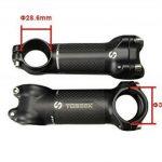 toseek remplacement de Potence pour vélo de route/VTT Vélo en alliage d'aluminium + fibre de carbone pour guidon, tige 31,8* * * * * * * * 60/70/80/90/100/110/120° 6et 17 de la marque image 2 produit