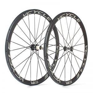 VCYCLE 700C Carbone Paire de Roues Vélo Route 38mm Tubulaire UD Mat Shimano ou Sram 8/9/10/11 Vitesse de la marque image 0 produit