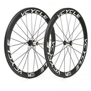 VCYCLE Fibre de Carbone Vélo de Course Route Roues 50mm Clincher Pneu Largeur 23mm 1700g Shimano ou Sram 8/9/10/11 Vitesse de la marque image 0 produit